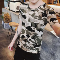 Short T- shirt Men' s Summer Camouflage Printing Half Sle...