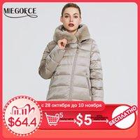MIEGOFCE Kış Kadın Koleksiyonu Kadın Sıcak Ceket Coat Kış Windproof Hood ve Tavşan Kürk Parka 201.106 ile Yaka-Stand Up