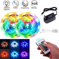 플라스틱 300-LED SMD3528 24W RGB IR44 라이트 스트립 IR 리모콘 (흰색 램프 플레이트)