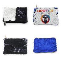 Sublimation Blanks Borse di stoccaggio Cambia colore Mermaid Sequin Portafogli Zippers Donne Coin Borses Due colori Stil 5 5ex G2
