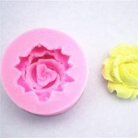DIY 미니 로즈 몰드 퐁당 초콜릿 케이크 장식 금형 꽃 실리카 젤 주방 액세서리 도구 뜨거운 판매 0 65FS G2