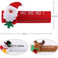 Weihnachten Kühlschrankgriffblenden Weihnachtsmann Mikrowelle Geschirrspüler Tuergriffabdeckung Weihnachtsweihnachtsparty-Dekor 24 * 16 cm GGE1781
