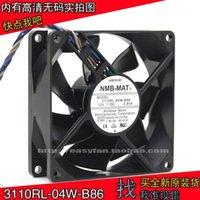 Original NMB 3110RL-04W-B86 8025 12V 0.65A Funda de control de temperatura PWM de 4 hilos PWM Ventilador de la CPU 80 × 80 × 25 mm Refrigerador de ventilador de refrigeración1