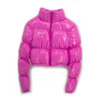 ATXYXTA PUGHER Rook Tooked Parka пузырь пальто зима женщин новая мода одежда черный красный фиолетовый розовый зеленый синий серебро XXL LJ201127