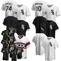 New Black Gold Edition 8 Bo Jackson Jersey Yoan Moncada Chicago Custom Beisebol Branco / Rsox Jerseys Frank Thomas Eloy Jimenez Carlton Anderson