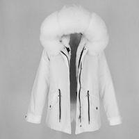OFTBUY 2020 Съемный водонепроницаемый Parka Real Шуба Зимняя куртка женщин Природные Fox меховой воротник капюшон Густой теплый вкладыш Верхняя одежда