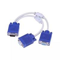 Alloyseed VGA Splitter Cable Dual 2 Monitor 15Pin Dos puertos Macho a mujer