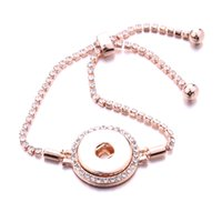 18pcs / lot 18mm-Verschluss-Knopf Bracele Noosa Art und Weise Silber Gold überzogene Armband-Knopf Schmuck Hochzeit Schlange-Kettenarmbänder für Frauen Wholesale