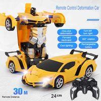 5 стилей RC CAR трансформация роботы спортивный автомобиль модель роботов игрушки дистанционные крутые RC деформации автомобили детские игрушки подарки для мальчиков 201203