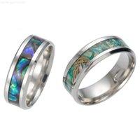 Стальное кольцо красочные кольца оболочки кольца из нержавеющей новой моды ювелирные изделия для мужчин женщины подарок Willl и Sandy 080186
