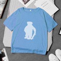 100% algodón diseñador mujer polo camiseta manga corta ocasional suelta divertida fresco tee shirts con impresión de patrón de oso de los EEUU DYDHGWC201