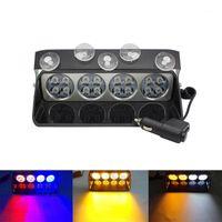 Warnleichter Blitzlicht LED-Windschutzscheiben-Sucker Rot Blau Bernstein weiß 16 LED-Notlicht für Autofahrzeug 12V1