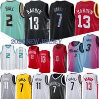 2 Ball 13 Harden Basketball Jerseys 7 Durant 11 Irving nba jerseys 3 Wade miami heat 22 Butler 14 Herro Basketball Jersey