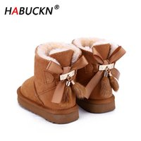 HABUCKN Australian Genuine Leather Fashion Girls Winter Snow...