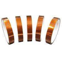 2020 5mm Hochtemperatur-Klebeband 10 mm 20 mm Hitzebeständige Brown Band 25mm 30mm Breite 33m lange Band für Sublimation-Maschine