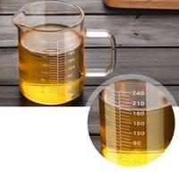 عالية البورسليكات الغذاء الصف الزجاج قياس كوب وعاء غلاية حليب شفاف كوب ميكروويف التقييم الخبز اكسسوارات المطبخ 201116