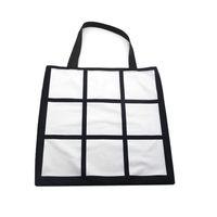 Nove caixas de sublimação handbad Totes DIY transferência de calor térmica Saco bolsas solteiro Dois Lados para impressão Livro de armazenamento Packs de Natal F102001