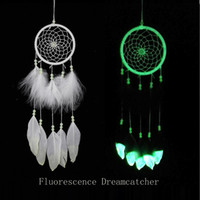 Fluorescence Dreamcatcher with Feathers Noctilucous Wind Chi...