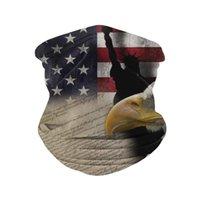 Masque Visage de protection Masque DustoBrame Numéro de poussière Gaiter Impression numérique Magic Tête Écharpe Eagle Bandanna America Drapeau Trump Photos Disposition Pest Control 6xS D2