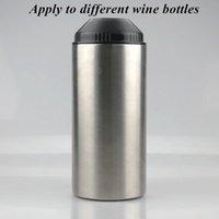25 once bottiglia di vino Cooler con coperchio in acciaio inox dispositivi di raffreddamento della bottiglia per il vino rosso d'argento a doppia parete isolante sottovuoto Barra degli strumenti IIAA863