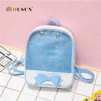 배낭 스타일 명확한 투명한 여성 귀여운 활 학교 미니 핑크 검은 schoolbags 10 대 패션 여자 bookbag 2021