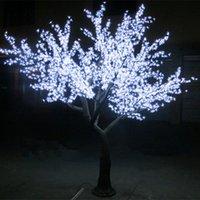 بقيادة الكرز زهر شجرة مصباح 1.5 ~ 2.5 متر عالية محاكاة الجذع الطبيعي الزفاف الديكور الإضاءة مهرجان الإضاءة حديقة الديكور
