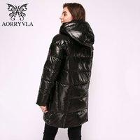 Aorryvla Длинные женские пуховики толстые теплые пуховые куртки с капюшоном хлопок Parka повседневная женская верхняя одежда одежда плюс размер 201105