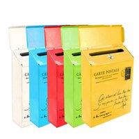 Retro Amerikan Posta Kutusu Kilidi Açık Vintage Posta Kutusu Post Dış Ev Mektubu Kutusu Bahçe Metal Dekorasyon Postbox T200117