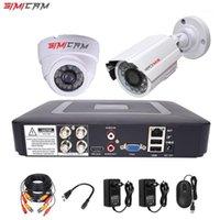 4CH DVR CCTV System 2PCS Caméras 1080P 2MP Surveillance vidéo 4CH 5 en 1 DVR Infrarouge AHD 1200 TVCCTTV Caméra Système de sécurité Kit1