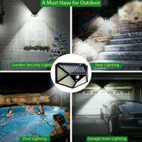 100 LED 태양 광 방수 전원 PIR 모션 센서 벽 빛 야외 정원 램프