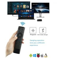 Q5 Air Mouse Voice Control Remoto para Android TV Box Wireless 2.4G Gyro Sensando el control remoto con el receptor USB1