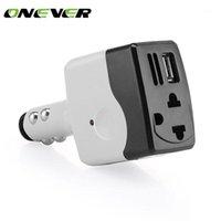 Autosprung StarterPower Inverter ONVER DC 12V bis AC 220V Leistungswandler 6W Auto-Ladegerät-Adapter mit USB für Smartphone-Tablet MP3 Black1