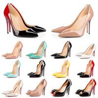 Con scatola Red Bottom Heels 2021 Spikes Vintage Scarpe eleganti da donna Scarpe con punta tonda Bottoms Tacchi alti Sneakers di design di lusso