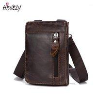 Hyuely حقيقية جلد الخصر حزم حزمة حزام حقيبة الهاتف الحقيبة حقائب السفر الخصر حزمة الذكور الرجال حقيبة جلدية الحقيبة new1
