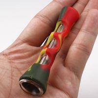 Tubi di fumo in silicone caldo Prometheus One Hiter Bat Silicone Silicone Portable Straight Pipe Dritto Nano Pyrex in vetro Tabacco