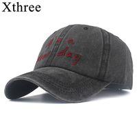 Xthree Herren Baseballkappen für Frauen Snapback Hut Knochen Neue Tag Stickerei Freizeitkappe Casquette Dad Hat Hip Hop Cap J1225