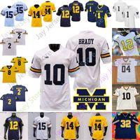 Personalizado Michigan Wolverines Football Jersey NCAA Zach Charbonnet Tom Brady Ronnie Sino Woodson Joe Milton Hassan Haskins Kwity Paye