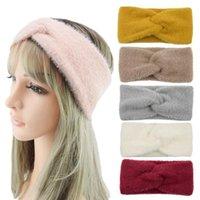 7 colori Peluche Fascia da donna inverno sport Hairband TURBAN YOGA Head Band Ear Muffs Beanie Cap Fandbands YYA535