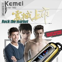 Capelli Kemei Trimmer Professional Hair Clipper rasoio elettrico ricaricabile Trimmer Lcd Power Screen display del parrucchiere Strumenti 4 XaSrG