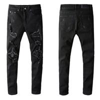 Mens Designer Calças de brim sólido estilo clássico lavado Luxo Luxo Slim-perna jeans motocicleta motocicleta jeans moda jeans tamanho top qualidade tamanho 29-40
