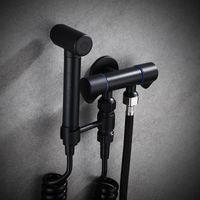 Double Funktion Switch Toilette Bidet Wasserhahn Badezimmer Hand Bidet Sprayer Set Kit Druck Flush Spray Gun Panzer Haken Wandhalterung