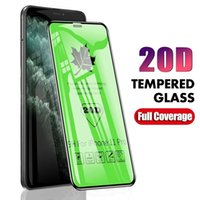 20D ملء الشاشة الغراء الزجاج المقسى حامي الشاشة فائقة الوضوح فيلم HD ل iPhone 6 7 8 XR 11 12 برو ماكس سامسونج هواوي