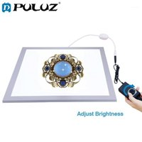 조명 스튜디오 액세서리 puluz 38x38cm 15in PO 1200LM LED 첨가 40x40cm 촬영 빛과 그림자가없는 하단 빛 디 밍이 가능한 램프 패널