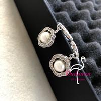 Mode Blume Anhänger Perle C-förmige Ohrhütte mit klassischer glänzender Stein Mode-Zubehör Ohrringe Party Geschenk Viped Geschenk
