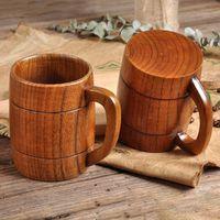 Coupe de la bière en bois classique Thé de café Tasse d'eau de café Habilloche Home Bureau Bar Parti de boissons Coupes Marine Mer Envoi ZZC4227