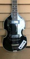 Zeldzame Custom Black Viola Bass 4 Strings Viola Elektrische Bas Gitaar China Viool Bass