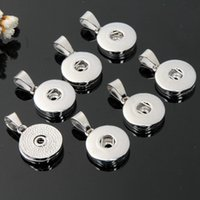 Argento Snap Pendenti Button fascini per braccialetti diy della collana Orecchini Fabbricazione dei monili Fit 18 millimetri Snap Button Charms intercambiabili