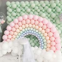 100pcs 10inch macaron ballons en latex pastel bonbon ballon ballon fête fête décorations enfants air hélium baby shout wedding globos ballon arc