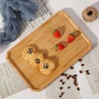 Kekse Tee Servierfach Umweltfreundliche Holzplatten Geschirr Handwerk Holz Sushi Dessert Teller Platte Rechteck Holz Becher Halter BH4361 TQQ