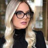 Óculos de sol quadros mulheres Ópticas óculos prescrição elegante feminina óculos para óculos moldura estilos de moda 95154 Eyewear1